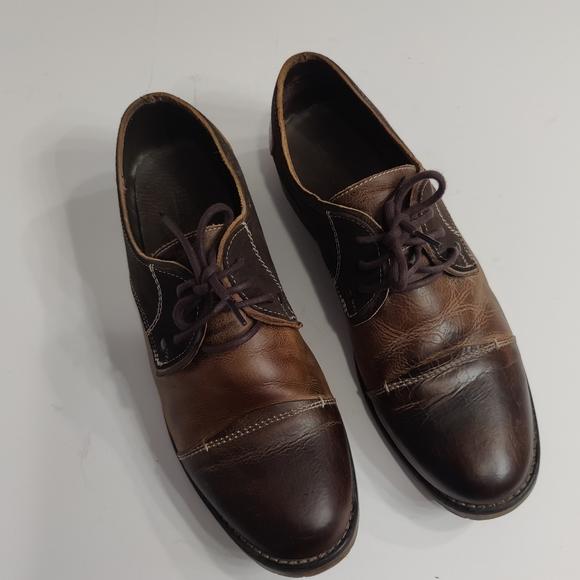 Bed Stu Leather Cap Toe Oxfords